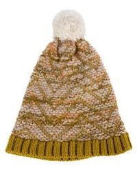 83017357d6f Missoni - Knit Pom-pom Beanie Multicolor - Lyst