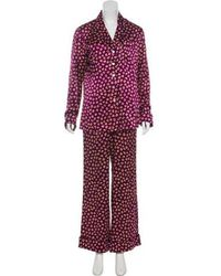 Olivia Von Halle - Silk Pajama Set Tan - Lyst
