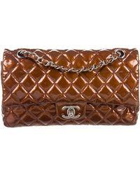 e8c402e8e24d Chanel - Classic Medium Double Flap Bag Brown - Lyst