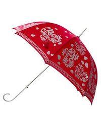 Boutique Moschino - Logo Heart Print Umbrella Red - Lyst
