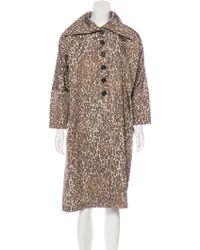 Derek Lam - Silk Printed Coat Brown - Lyst