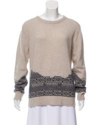 Band of Outsiders - Knit Wool Sweater Beige - Lyst