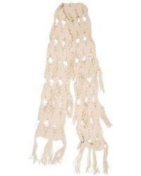 Rachel Comey - Distressed Knit Scarf Beige - Lyst
