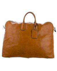 Valextra - Leather Weekender Bag Brown - Lyst