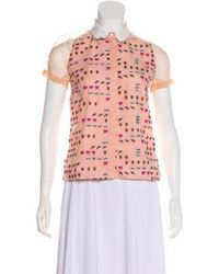 Antipodium - Embroidered Button-up Top W/ Tags - Lyst