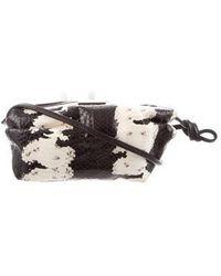 Tamara Mellon - Elaphe Snakeskin Crossbody Bag Black - Lyst