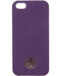 Tory Burch - Robinson Iphone 5 Case W/ Tags Violet - Lyst