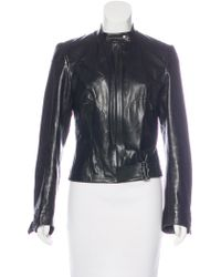 Dior - Embellished Leather Jacket Black - Lyst