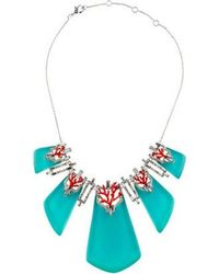 Alexis Bittar - Coral Deco Bedarra Articulated Bib Necklace Silver - Lyst