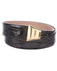 Donna Karan - Crocodile Waist Belt Black - Lyst