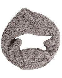 Helmut Lang - Wool-blend Infinity Scarf Grey - Lyst