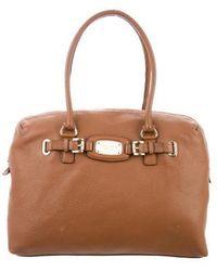 c03403194340c1 MICHAEL Michael Kors - Michael Kors Textured Leather Tote Bag Brown - Lyst
