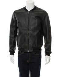 Lot78 - Leather Bomber Jacket - Lyst