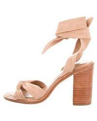 Zimmermann - Suede Lace-up Sandals Tan - Lyst