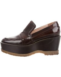 Dries Van Noten - Leather Loafer Pumps - Lyst