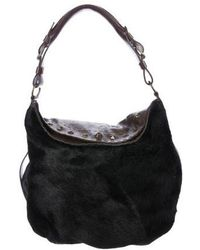 Henry Beguelin - Ponyhair Studded Hobo Brown - Lyst