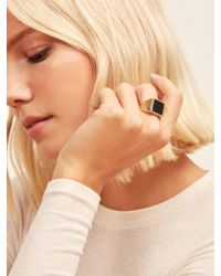 Reformation - Soko Horn Square Signet Ring - Lyst