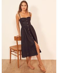 a047bfdecf Lyst - Reformation Roxanna Dress in Black