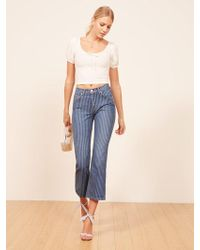 Reformation | Mid Crop Flare Jean | Lyst