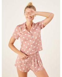 Reformation - Short Pajama Set - Lyst