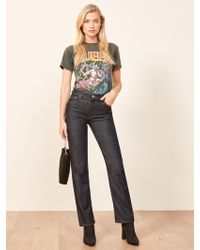 Reformation - Liza High Straight Jean - Lyst