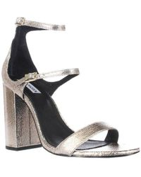 18a0477fc73 Lyst - Steve Madden Parrson Women Us 10 Gold Sandals in Black