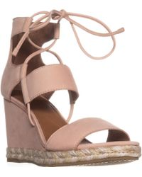 Frye - Roberta Ghillie Wedge Sandals - Lyst