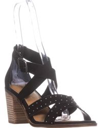 Lucky Brand - Kesey Black Strappy Sandals - Lyst