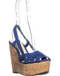 Jessica Simpson - Westt Peep Toe Wedge Sandals - Lyst