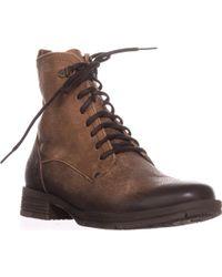 Born - Joris Flat Combat Boots - Lyst