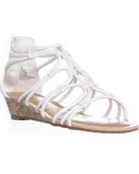 Esprit - Cecile Zip Up Wedge Strappy Sandals - Lyst