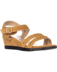 Callisto - Plush Low-wedge Sandals - Lyst