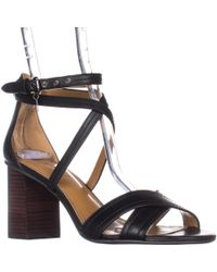 COACH Phoebe Strappy Block Heel Sandals - Black