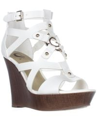 Guess - G By Dodge Strappy Wedge Sandals - Lyst