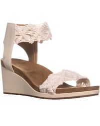 2d7e188631a Lucky Brand - Kierlo Ankle Strap Wedge Sandals - Lyst