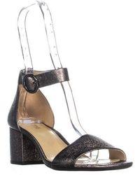 6872025ef3c5 Michael Kors - Michael Lena Flex Mid Ankle Strap Block Heel Sandals - Lyst