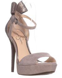 b5e029e6145 Jessica Simpson - Baani Sparkle Bow Heel Dress Platform Court Shoes - Lyst