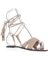 0f75e48597b2 Lyst - Steve Madden Walkitt Flat Lace Up Sandals in Brown