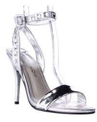 Caparros - Cassidy Jeweled Ankle Strap Dres Sandals - Silver Metallic - Lyst