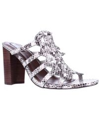 Cole Haan - Claudia High Lace Up Mule Dress Sandals, Silver Python - Lyst