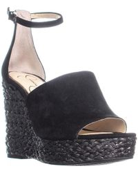 80b4658bd80 Lyst - Jessica Simpson Suella Espadrille Wedge Sandals in Brown