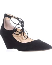 Ivanka Trump - Winogrand Wedge Lace Up Pointed Toe Court Shoes - Lyst