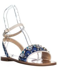 Vince Camuto - Akitta Ankle Strap Flat Sandals - Lyst
