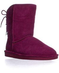 BEARPAW - Elizabeth Short Back Lace Up Winter Boots - Lyst