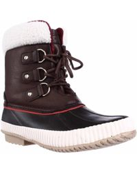 Tommy Hilfiger - Ebonie Water Resistant Fleece Lined Winter Booties - Lyst