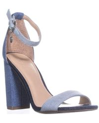 bd580725a0d Lyst - Charlotte Russe Bamboo Caged Metallic Heel Sandals in Black