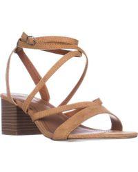 Madden Girl - Leexi Block Heel Ankle Strap Dress Sandals - Lyst