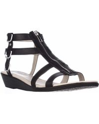 Rialto - Gracia Front Zip Gladiator Sandals - Lyst