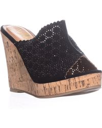 Callisto - Lovie Embellished Platform Wedge Sandals - Lyst