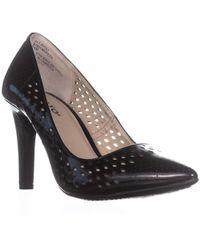 Rialto - Riatlo Moreen Pointed Toe Slip On Court Shoes, Black - Lyst